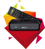 Infomir MAG 254 W1 (Wifi on board) IPTV BOX