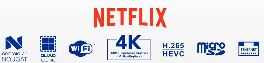 Amiko A6N OTT 4K (NetFlix)
